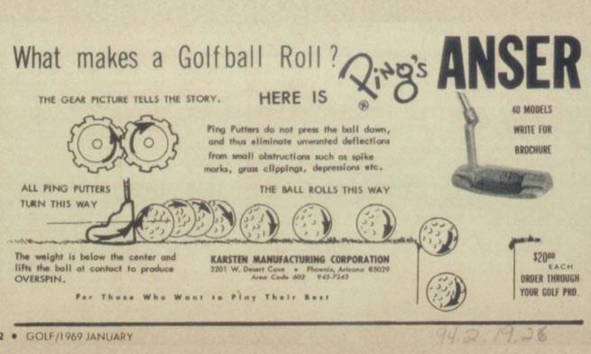 Anser Putter Print Advertisement